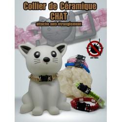 collier céramique chat
